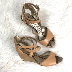 Sam Edelman wedge sandals, 6M